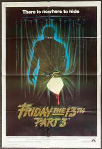Friday The 13th Part 3 Movie Poster Original One Sheet 1982 Slasher Jason
