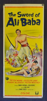 The Sword Of Ali Baba Poster Original Daybill Poster 1965 Peter Mann Jocelyn Lane