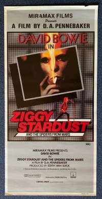Ziggy Stardust And The Spiders From Mars 1973 David Bowie Daybill Movie Poster Rolled