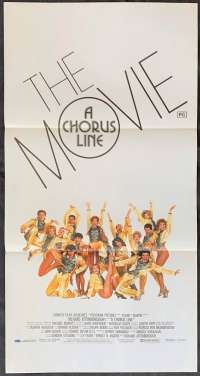 A Chorus Line The Movie 1985 Daybill movie poster Marvin Hamlisch Michael Douglas