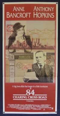 84 Charing Cross Road 1987 Daybill movie poster Anthony Hopkins Anne Bancroft