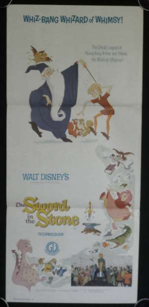 The Sword In The Stone 1964 Disney 1973 Re-Issue Daybill movie poster