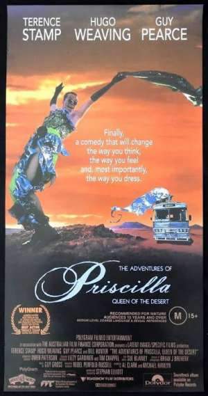 Adventures Of Priscilla Queen Of The Desert Daybill Poster Hugo Weaving