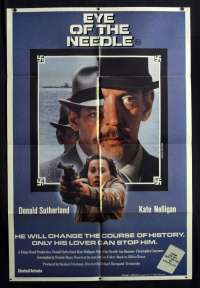 Eye Of The Needle 1981 One Sheet movie poster Donald Sutherland Kate Nelligan Ian Bannen Bill Nighy