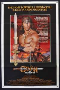 Conan The Destroyer 1982 One Sheet USA movie poster Arnold Schwarzenegger