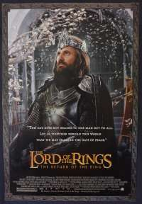 Lord Of The Rings Return Of The King One Sheet movie poster USA rolled Teaser Aragon art