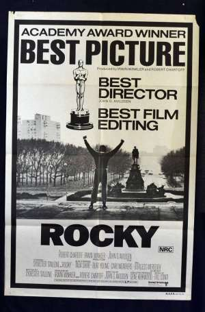 Rocky Poster Original One Sheet Academy Awards Art Sylvester Stallone