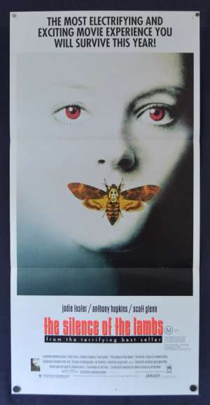 The Silence Of The Lambs Poster Original Daybill 1991 Jodie Foster Anthony Hopkins