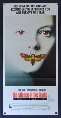 The Silence Of The Lambs 1991 Daybill movie poster Jodie Foster Anthony Hopkins Horror