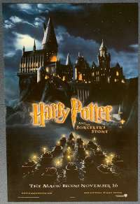 Harry Potter And The Sorcerer's Stone Poster Original USA One Sheet Teaser Art