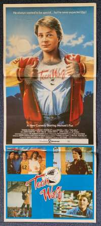 Teen Wolf Poster Original Daybill 1985 Michael J. Fox Back To The Future