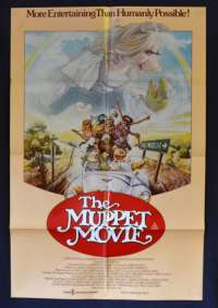 The Muppet Movie Poster Original One Sheet 1979 Kermit Miss Piggy