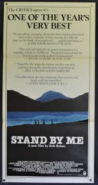 Stand By Me Movie Poster Rare Original Daybill River Phoenix Stephen King