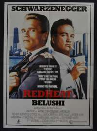 Red Heat 1988 movie poster One Sheet Schwarzenegger Belushi