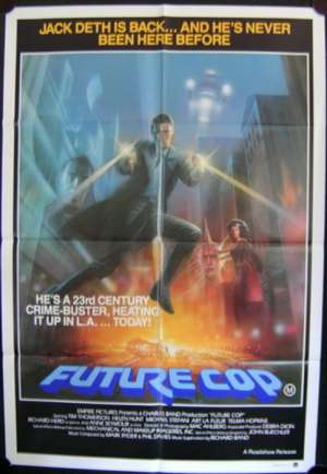 Future Cop Poster Original One Sheet 1984 AKA Trances Helen Hunt Tim Thomerson