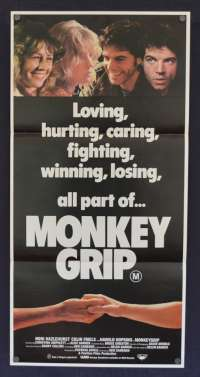 Monkey Grip Movie Poster Original Daybill 1982 Colin Friels Noni Hazelhurst