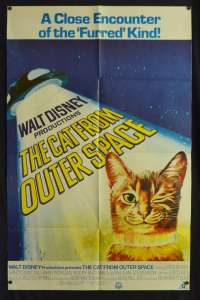 The Cat From Outer Space Poster One Sheet Original 1978 Ken Berry