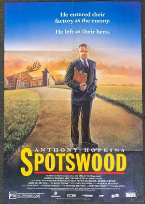 Spotswood Poster Original One Sheet 1992 Anthony Hopkins The Efficiency Expert