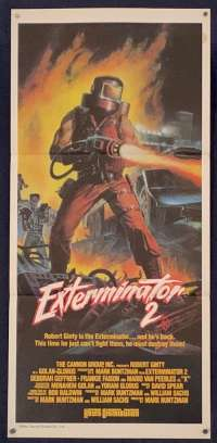 The Exterminator 2 Daybill movie poster
