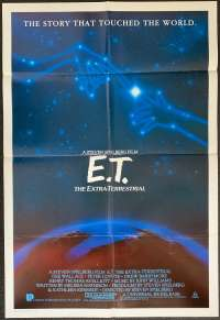 E.T. The Extra-Terrestrial Poster Original One Sheet 1985 Re-Issue Henry Thomas