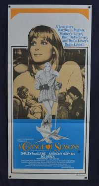 A Change Of Seasons 1980 Daybill movie poster Anthony Hopkins Bo Derek