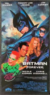 Batman Forever Poster Original Daybill Rolled 1995 Val Kilmer Chris O'Donnell