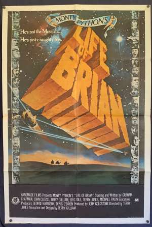 Monty Pythons The Life Of Brian Poster One Sheet Original 1979 John Cleese