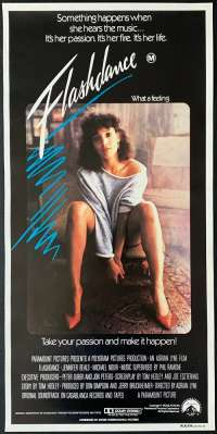 Flashdance movie poster daybill ROLLED Jennifer Beals Irene Cara