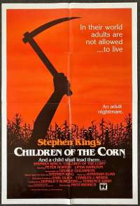 Children Of The Corn 1984 movie poster one sheet Stephen King Linda Hamilton Horror
