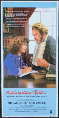 Educating Rita 1983 Michael Caine Julie Walters Australian Daybill Poster