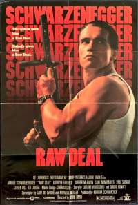 Raw Deal Movie Poster Original USA One Sheet 1986 Schwarzenegger