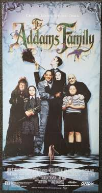 The Addams Family Movie Poster Original Daybill 1991 Raul Julia Anjelica Huston