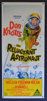The Reluctant Astronaut 1957 Daybill Movie Poster Don Knotts NASA Best ART