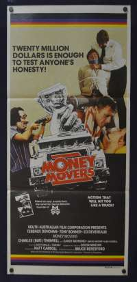 Money Movers Poster Original Daybill 1978 Bruce Beresford Bryan Brown