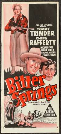 Bitter Springs 1950 Australian Daybill movie poster Chips Rafferty Michael Pate RARE
