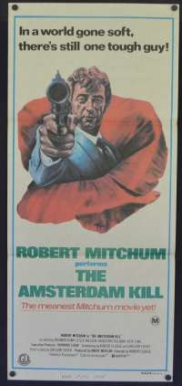 The Amsterdam Kill Movie Poster Original Daybill 1977 Robert Mitchum Richard Egan