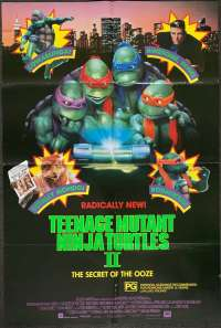 Teenage Mutant Ninja Turtles 2 Poster Original One Sheet 1990 Superhero