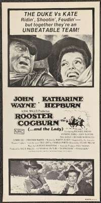 Rooster Cogburn 1975 Daybill Movie Poster ROLLED Vintage John Wayne
