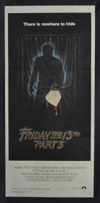 Friday The 13th Part 3 1982 Daybill movie poster Slasher Jason