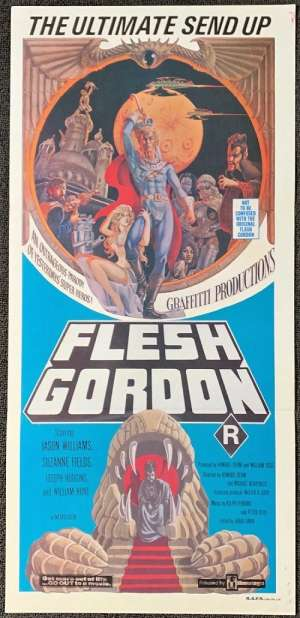 Flesh Gordon Movie Poster Original Daybill 1974 Sexploitation Rare Sci Fi Art