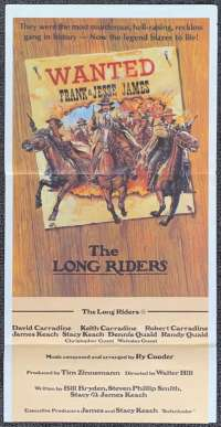 The Long Riders 1980 David Carradine Daybill movie poster