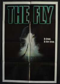 The Fly Movie Poster Original One Sheet 1986 David Cronenberg Jeff Goldblum