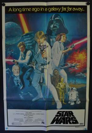 Star Wars Poster 1977 One sheet movie poster Harrison Ford Mark Hamill