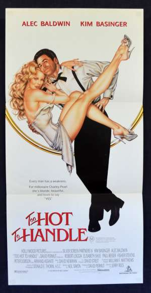 Too Hot To Handle 1991 Daybill Movie Poster Aka The Marrying Man Alec Baldwin Kim Basinger