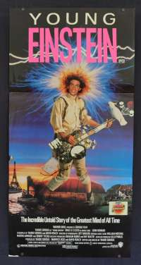 Young Einstein Movie Poster Original Daybill 1988 Yahoo Serious John Howard