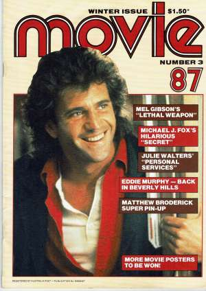 Lethal Weapon Movie Magazine 1987 Number 3 Mel Gibson