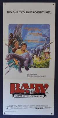 Baby Secret Of The Lost Legend Movie Poster Original Daybill 1985 Sean Young