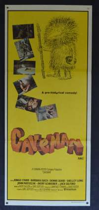 Caveman 1981 movie poster Ringo Starr Beatles Daybill