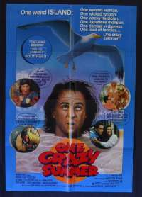One Crazy Summer 1986 One Sheet movie poster John Cusack Demi Moore Curtis Armstrong