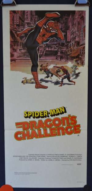 Spiderman The Dragon's Challenge Poster Original Daybill Nicholas Hammond